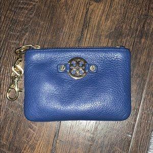 Tory Burch dark blue coin purse!